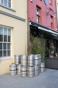 A Pub with last night's Guinness waiting to be replenished