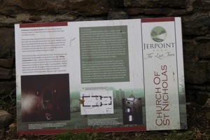 Sign with St Nicholas Church Information