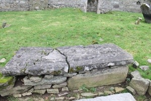 Stone slab covering St Nicholas's remains