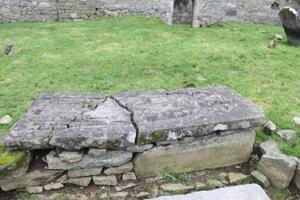 Stone slab covering St Nicholas's remains
