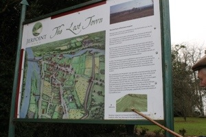 Information sign on Newtown Jerpoint, the lost town