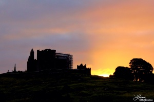 Rock of Cashel Sunrise and Clouds Beginning to Lift