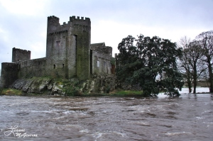 Cahir Castle & the Flooded River Suir, Cahir, County Tipperary